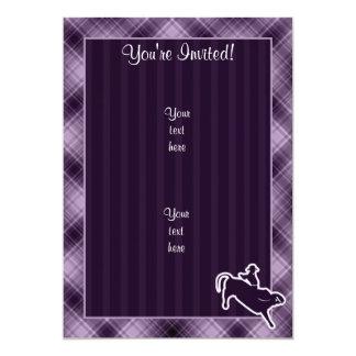 "Jinete púrpura de Bull Invitación 5"" X 7"""