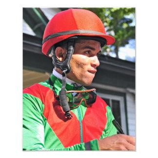 Jinete que gana Joel Rosario de Dubai Derby Arte Fotográfico