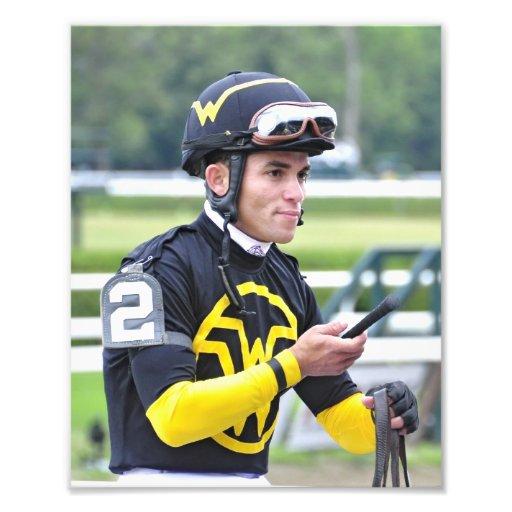 Jinete que gana Joel Rosario de Dubai Derby Fotografia