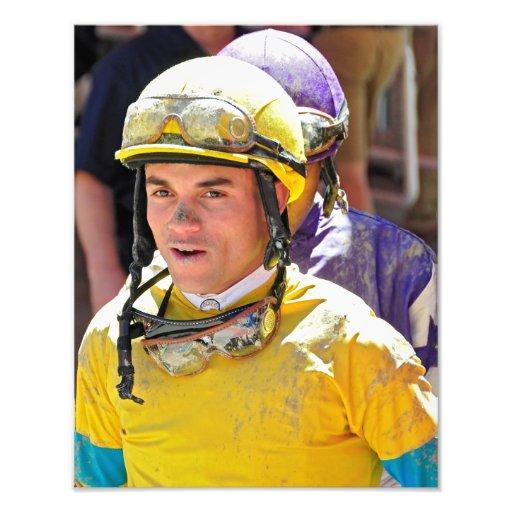 Jinete que gana Joel Rosario de Dubai Derby Impresion Fotografica