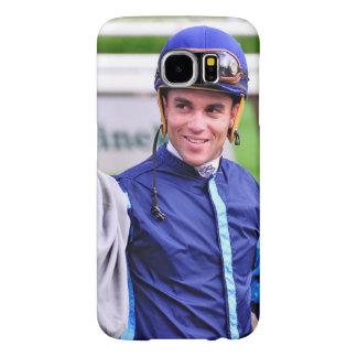 Jinete que gana Joel Rosario del mundial de Dubai Fundas Samsung Galaxy S6