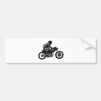 Jinete rápido de Motorcyle del corredor del café q Pegatina Para Auto