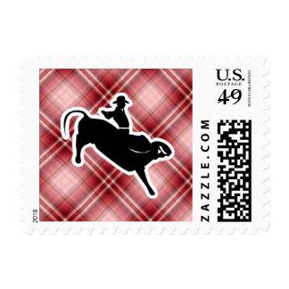Jinete rojo de Bull de la tela escocesa Envio