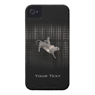 Jinete rugoso de Bull iPhone 4 Case-Mate Cobertura