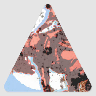 Jinete solitario pegatina triangular