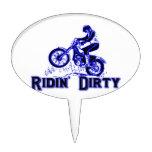 Jinete sucio de la bici de la suciedad de Ridin Decoración Para Tarta