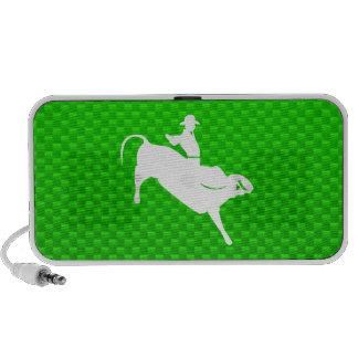 Jinete verde de Bull iPhone Altavoces