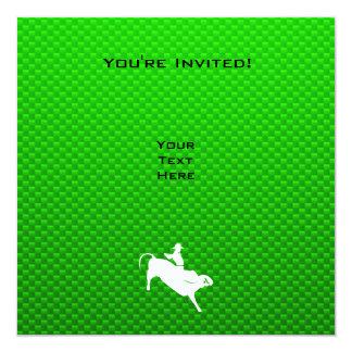 Jinete verde de Bull Invitación 13,3 Cm X 13,3cm