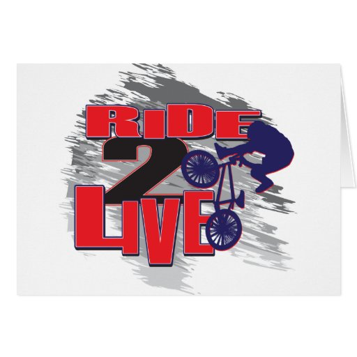Jinete vivo del paseo 2 BMX Tarjeta