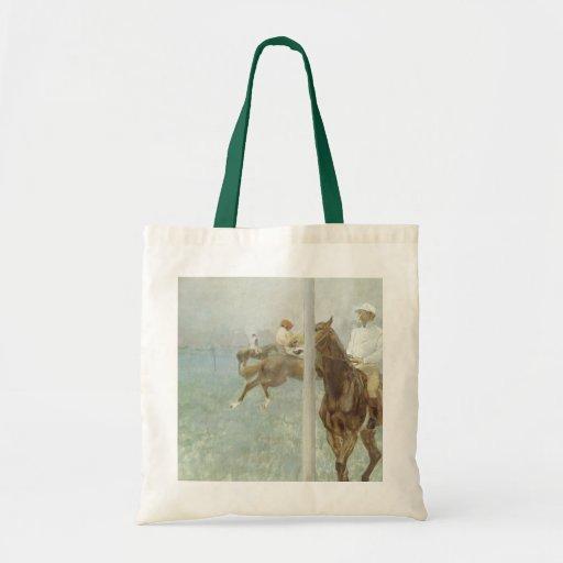 Jinetes ante la raza de Edgar Degas Bolsa Tela Barata