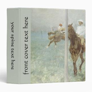 Jinetes ante la raza de Edgar Degas