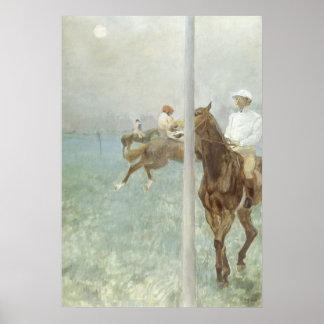 Jinetes ante la raza de Edgar Degas Impresiones