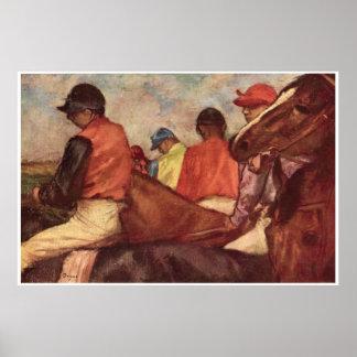 Jinetes C 1881-85 Edgar Degas Poster