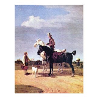 Jinetes con dos caballos de Wilhelm Von Kobell Flyer Personalizado