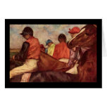 Jinetes de Edgar Degas Felicitacion