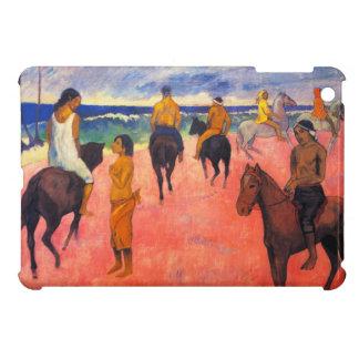 Jinetes de Gauguin en caso del iPad de la playa el iPad Mini Coberturas
