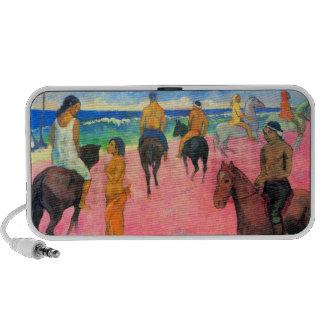 Jinetes de Gauguin en el arte de Tahití de los cab Altavoz De Viaje