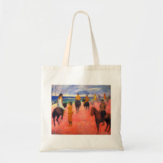 Jinetes de Gauguin en la bolsa de asas de la playa
