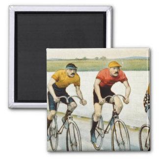 Jinetes de la bici imanes de nevera