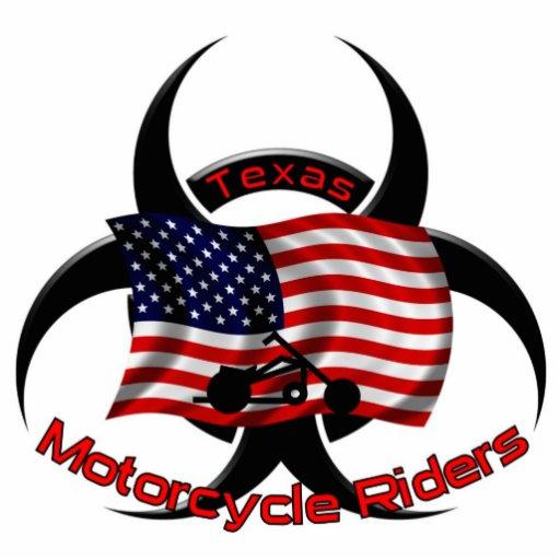 Jinetes de la motocicleta del Pin Tejas Pin Fotoescultura