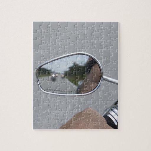 Jinetes de la vista posterior puzzles con fotos