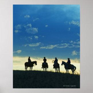Jinetes de lomo de caballo 6 póster