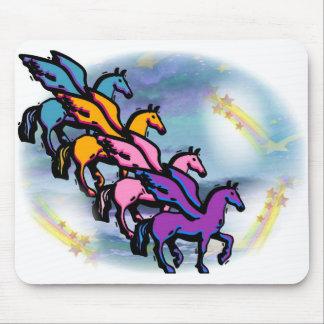 Jinetes del arco iris de Pegaso Tapete De Ratones