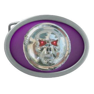 JINETES del CRÁNEO púrpuras Hebillas Cinturon Ovales
