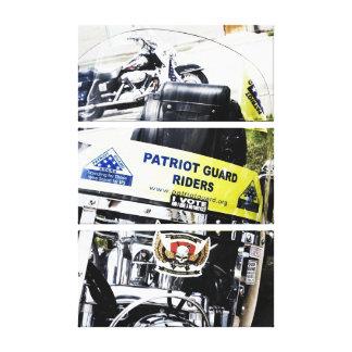 Jinetes del guardia del patriota impresión en lona