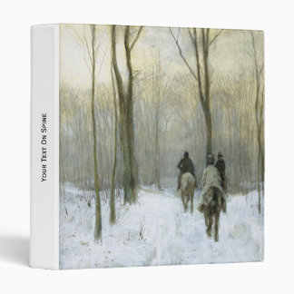 "Jinetes en la nieve en la madera de Haagse, color Carpeta 1"""