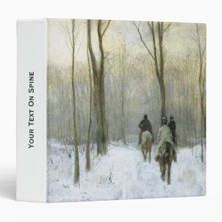 "Jinetes en la nieve en la madera de Haagse, color Carpeta 1 1/2"""
