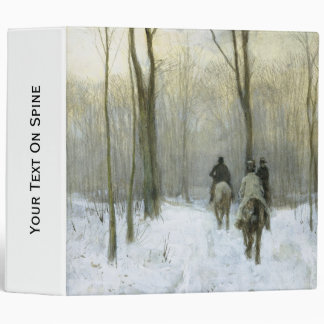 "Jinetes en la nieve en la madera de Haagse, color Carpeta 2"""