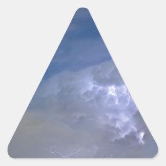 Jinetes en la tormenta pegatina triangular