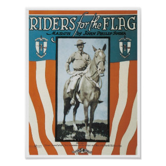 Jinetes para el poster de la bandera