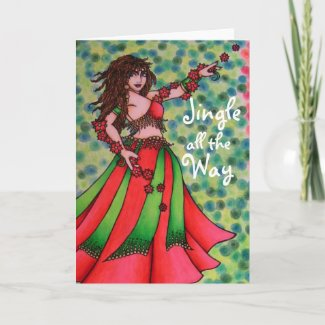Jingle all the Way Belly Dancer Cards