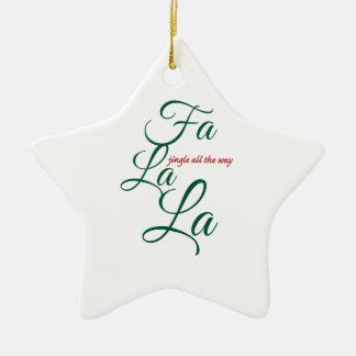 jingle all the way ceramic ornament