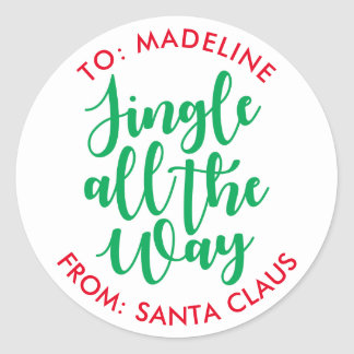 Jingle all the Way Classic Round Sticker
