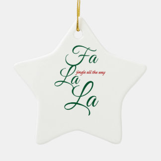 jingle all the way Double-Sided star ceramic christmas ornament