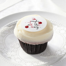 jingle all the way edible frosting rounds
