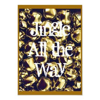 Jingle All the Way Gold Jingle Bells Invitation