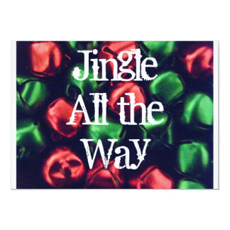 Jingle All the Way Invitation Red & Green Bells