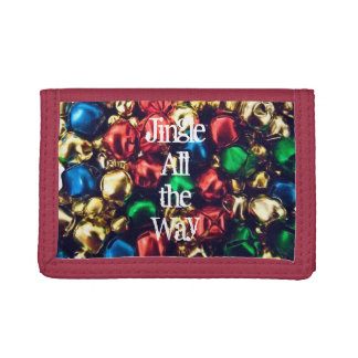 Jingle All the Way Multi-Color Bell Trifold Wallet