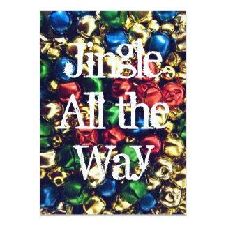Jingle All the Way Multi-Color Bells Invitation