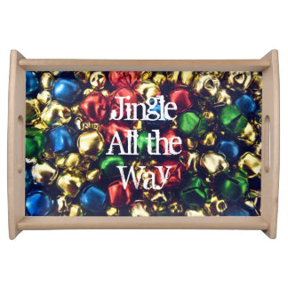 Jingle All the Way Multi-Color Bells  Serving Tray