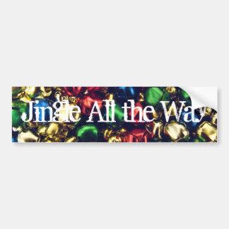 Jingle All the Way Multi-Color Bumper Sticker Bumper Stickers