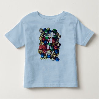 Jingle All the Way Multi-Color Toddlers Ringer Tee