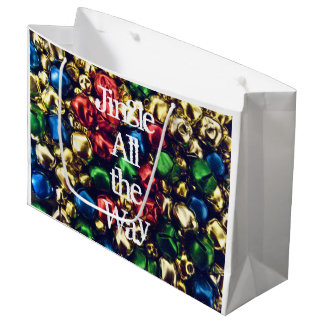Jingle All the Way Multi-colored Large Gift Bag
