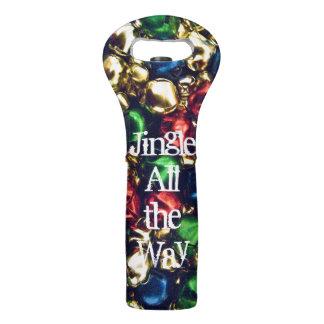 Jingle All the Way Multi-colored Wine Tote