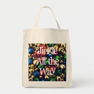 Jingle All the Way MultiColor Organic Grocery Tote