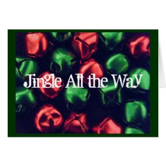 Jingle All the Way Note Card Red & Green Bells